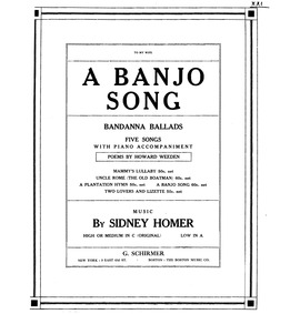 Bandanna Ballads (5 Songs) : Complete Sc... Volume Op.22 by Homer, Sidney