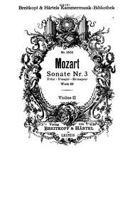 Church Sonata in D major, K.69/41k : Vio... Volume K.69/41k by Mozart, Wolfgang Amadeus