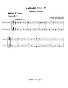Fünff-stimmigte blasende Music, No.23 : ... by Pezel, Johann Christoph