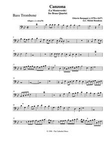 La Monteverde : Bass trombone by Bargagni, Ottavio
