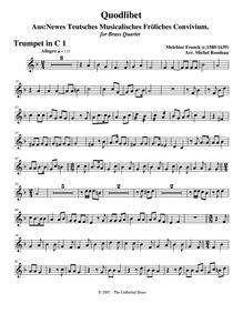 Newes teutsches musicalisches fröliches ... by Franck, Melchior
