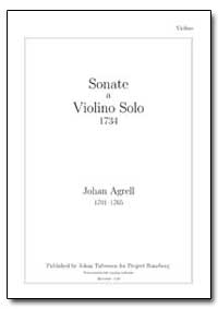 Sonate a Violino Solo 1734 by Agrell, Johan