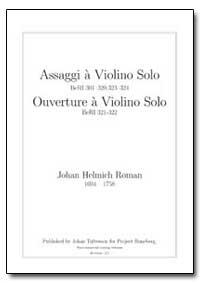 Assaggi a Violino Solo Beri 301{320, 323... by Roman, Johan Helmich