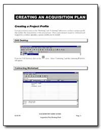 Creating an Acquisition Plan by