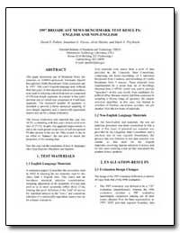 1997 Broadcast News Benchmark Test Resul... by Pallett, David S.