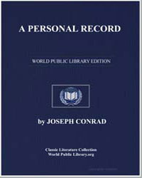 A Personal Record by Conrad, Joseph