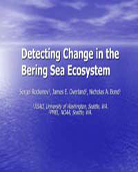 Detecting Change in the Bering Sea Ecosy... by Rodionov, Sergei