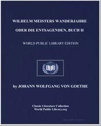 Wilhelm Meisters Wanderjahre Buch Ii by Von Goethe, Johann Wolfgang