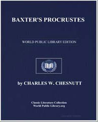 Baxter's Procrustes by Chesnutt, Charles Waddell