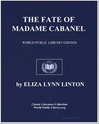 The Fate of Madame Cabanel by Linton, Eliza Lynn