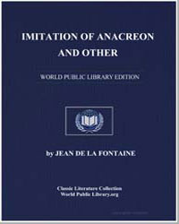 Imitation of Anacreon and Other by De La Fontaine, Jean