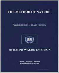 The Method of Nature by Emerson, Ralph Waldo