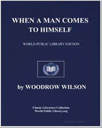 When a Man Comes to Himself by Wilson, Woodrow