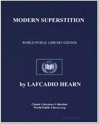Modern Superstition by Hearn, Lafcadio