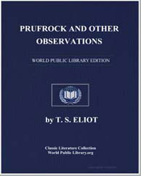 Prufrock and Other Observations by Eliot, T. S.