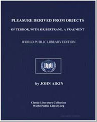 Pleasure Derived from Objects of Terror,... by Aikin, John