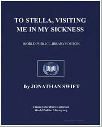 To Stella, Visiting Me in My Sickness by Swift, Jonathan