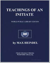 Teachings of an Initiate by Heindel, Max