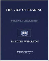 The Vice of Reading by Wharton, Edith