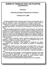 Sobre el Trabajo Con las Plantas by Antonov, Vladimir, Ph. D.
